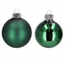 Boule d'arbre D80mm, 15 pièces / boîte, vert f